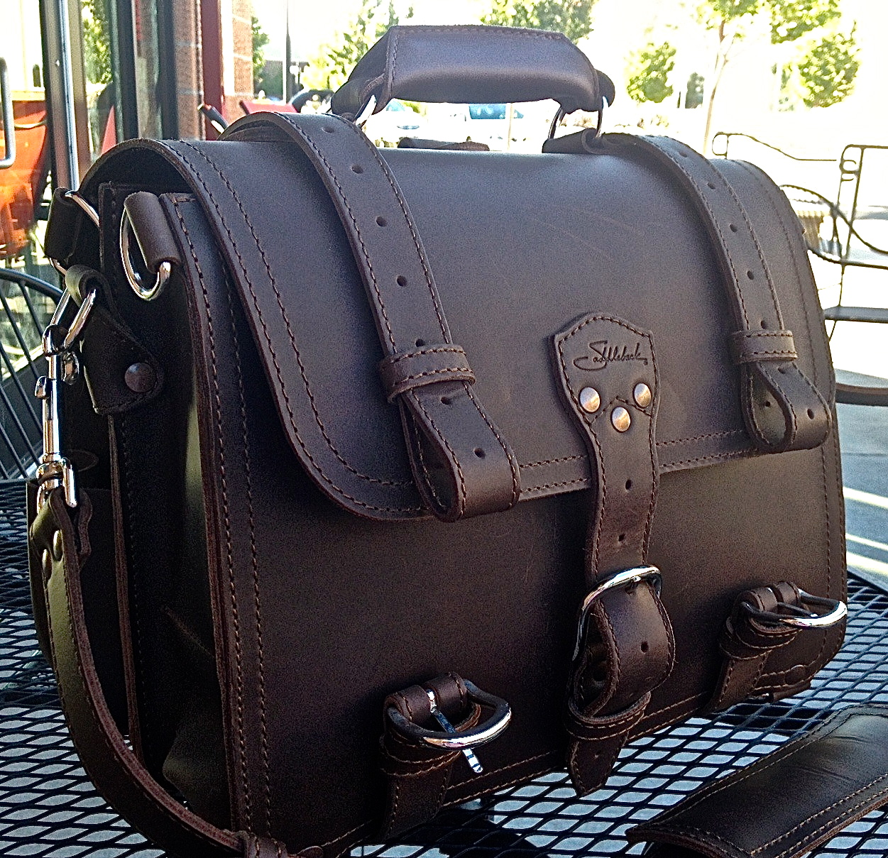 Review: Saddleback Leather Briefcase | Riding